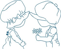 Sweetheart Sam & Sue embroidery design