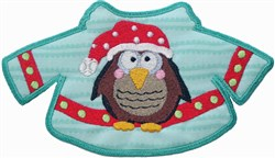 Owl Sweater Applique embroidery design