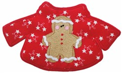 Gingerbread Boy Sweater embroidery design