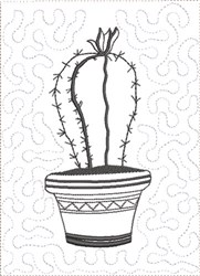 ITH Cactus to Color Quilt Blk 1 embroidery design