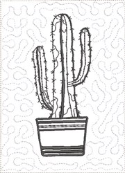 ITH Cactus to Color Quilt Blk 4 embroidery design
