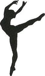 Ballet Pose embroidery design