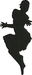 Salsa Dancer embroidery design