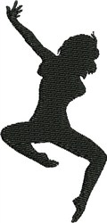Modern Dancer embroidery design