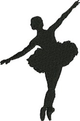 Ballet Pirouette embroidery design