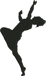 Lyrical Silhouette embroidery design