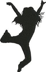 Male Modern Dancer embroidery design