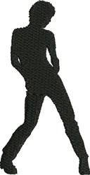 Male Jazz Dancer embroidery design