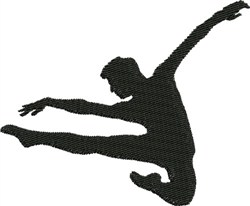 Male Dancer embroidery design
