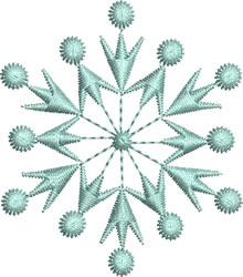Ice Blue Snowflake embroidery design