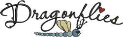 Dragonflies Sign embroidery design