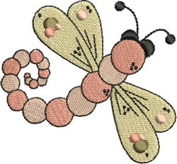 Upwards Dragonfly embroidery design