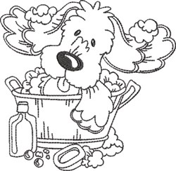 Dog bath 2 embroidery designs machine embroidery designs for Bathroom embroidery designs