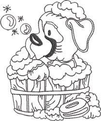 Dog Bath 4 embroidery design