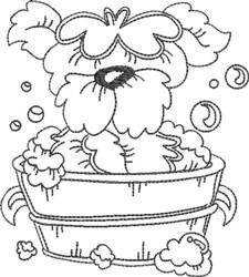 Dog Bath 8 embroidery design