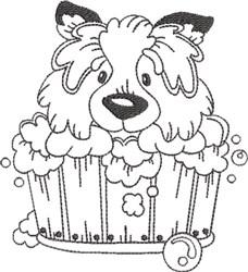 Dog Bath 9 embroidery design