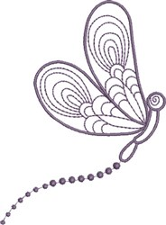 Dragonfly Profile embroidery design