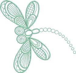 Dragonfly Delight embroidery design
