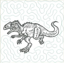 Dinosaur 3 Quilt Block embroidery design