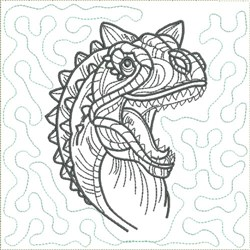 Dinosaur 4 Quilt Block embroidery design