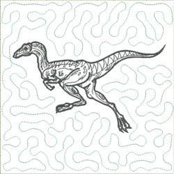 Dinosaur 5 Quilt Block embroidery design