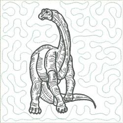 Dinosaur 7 Quilt Block embroidery design