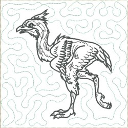 Dinosaur 8 Quilt Block embroidery design