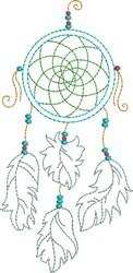 Pretty Dream Catcher embroidery design