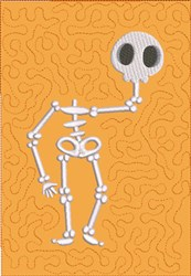 Dancing Skeleton 2 Quilt Block embroidery design