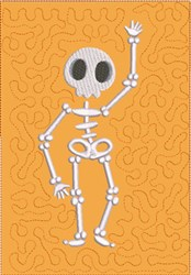 Dancing Skeleton 3 Quilt Block embroidery design