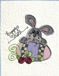 ITH Easter Bunny Mini Quilt embroidery design