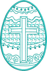 Easter Cross and Stars embroidery design
