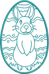 Easter Bunny Standing embroidery design