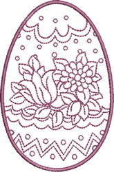 Easter Tulip and Mum embroidery design