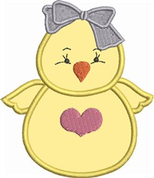 Sweet Chick embroidery design