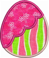 Scalloped Easter Egg embroidery design