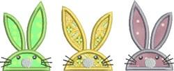 Bunny Trio embroidery design