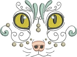 Exotic Kitty embroidery design