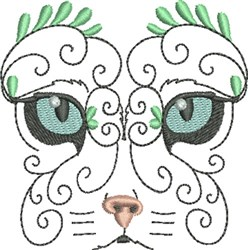 Exotic Cat embroidery design