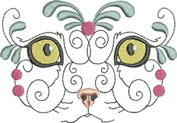 Exotic Kitty Face embroidery design