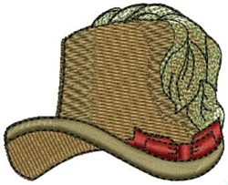 Victorian Hat embroidery design