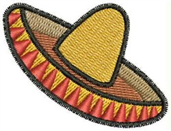 Sombrero embroidery design