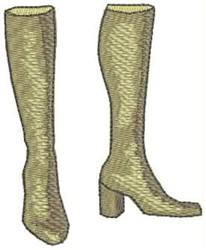 High Fashion Boots embroidery design