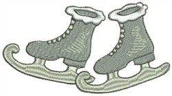 Silver Ice Skates embroidery design