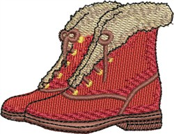 Fur Lined Boots embroidery design