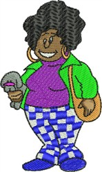 African American Woman embroidery design