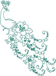 Large Peacock -Fabulous Tail embroidery design