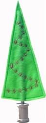 Felt Starred Christmas Tree embroidery design