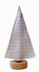 Felt Patterned Christmas Tree embroidery design