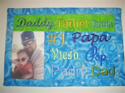 ITH Fathers Day Mug Mat embroidery design